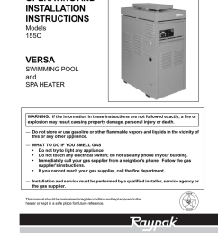 raypak 155c swimming pool heater user manual [ 791 x 1024 Pixel ]