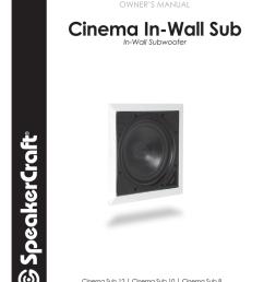 owner s manual speakercraft 10 speaker user manual [ 791 x 1024 Pixel ]