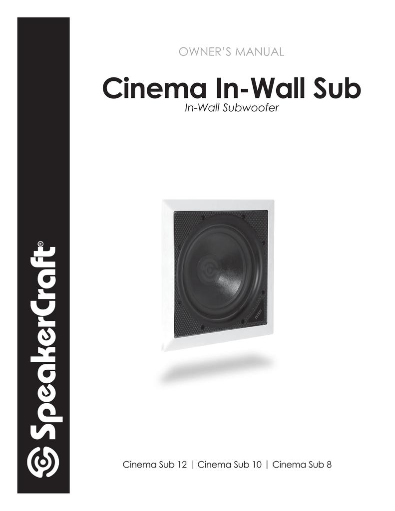 medium resolution of owner s manual speakercraft 10 speaker user manual