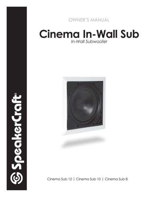 small resolution of owner s manual speakercraft 10 speaker user manual