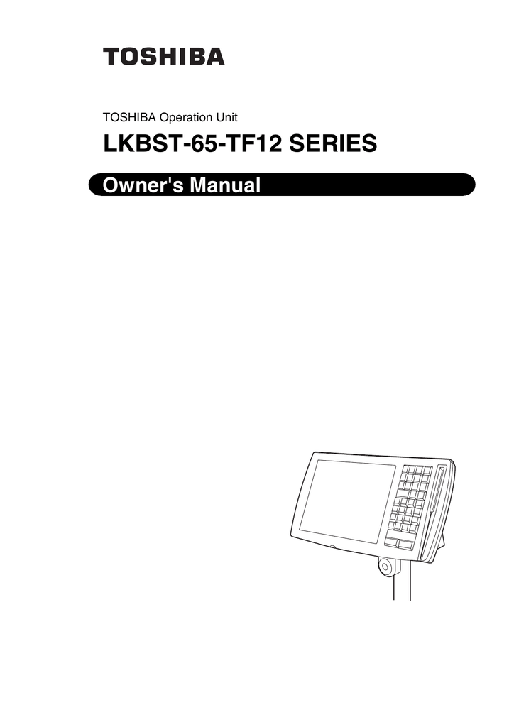 Toshiba LKBST-65-TF12 SERIES Computer Accessories User