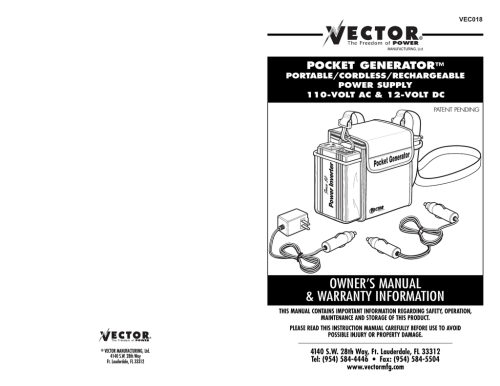 small resolution of user manual vector vec018 power supply user manual
