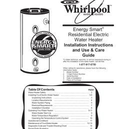 whirlpool electric whirlpool 188410 water heater user manual manualzz com on whirlpool water heater warranty  [ 791 x 1024 Pixel ]