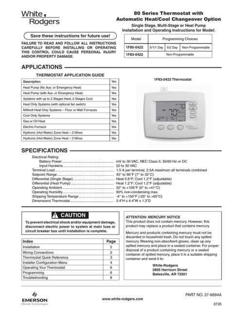 small resolution of operating instructions white rodgers 1f80 0471 thermostat user manual