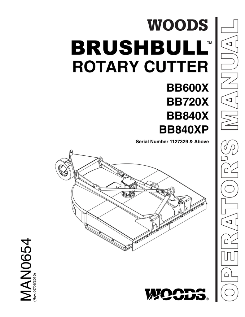 Woods Equipment BB840XP Brush Cutter User Manual
