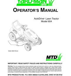 operator s manual yard man 435 lawn mower user manual [ 791 x 1024 Pixel ]
