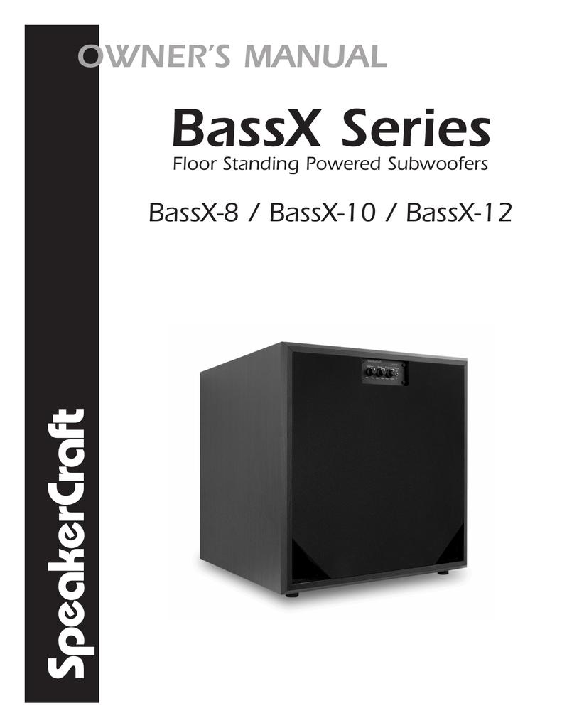 medium resolution of owner s manual speakercraft bassx 12 subwoofer