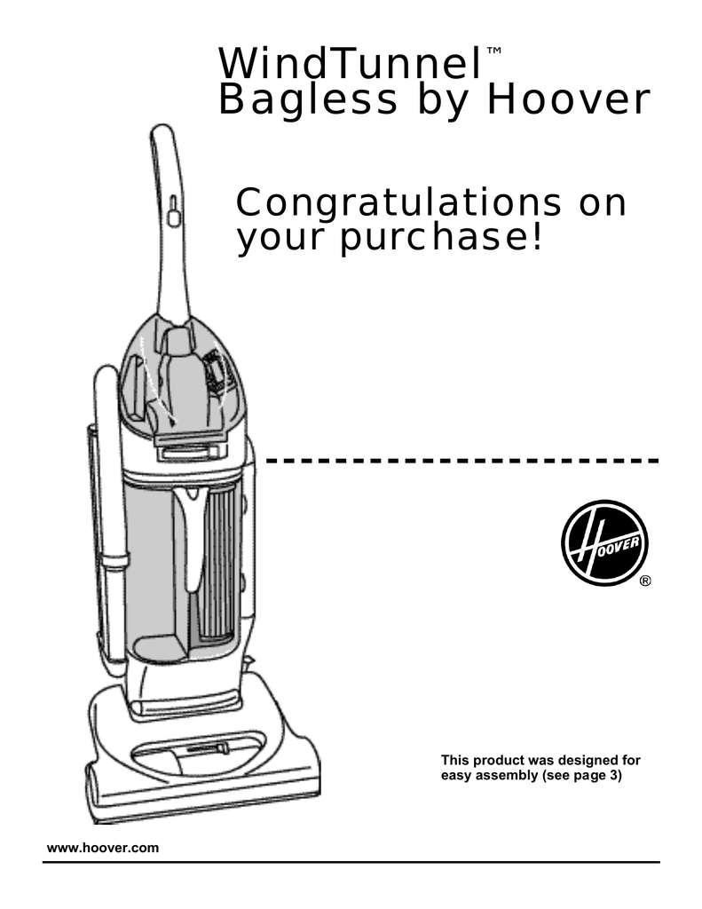 Hoover U5750-900 WindTunnel Bagless Upright Vacuum