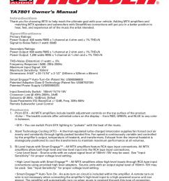 mtx thunder ta7801 subwoofer mono amp car audio amplifier [ 791 x 1024 Pixel ]