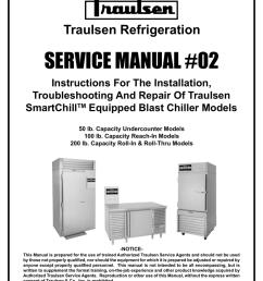 traulsen rbc100 blast chiller reach in unit traulsen refrigeration  [ 791 x 1024 Pixel ]
