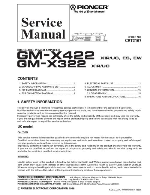 small resolution of pioneer gm x322 car audio amplifier pioneer gm