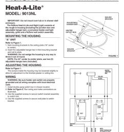 broan nutone n 9013nl combination heater heater installation instructions  [ 791 x 1024 Pixel ]