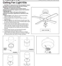 broan nutone n pflk1br light kit ceiling fan installation instructions  [ 791 x 1024 Pixel ]