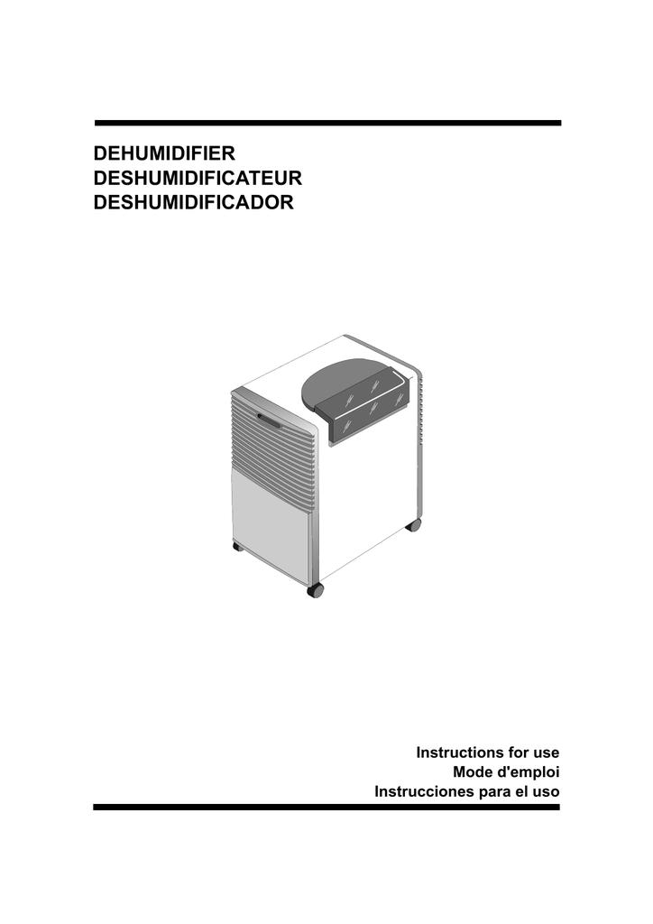 Delonghi Deshumidificateur Mode Demploi