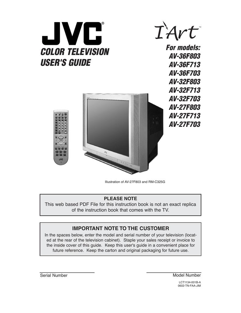 hight resolution of jvc av 27f713 27 tv