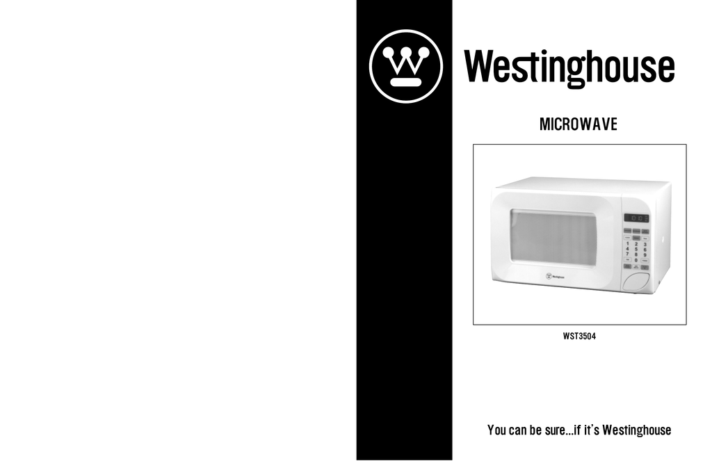 westinghouse wst3504 microwave oven