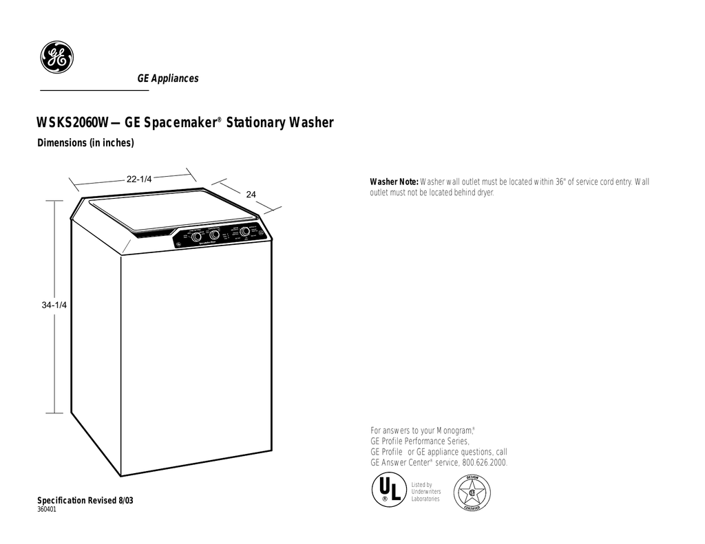 hight resolution of ge wsks2060wwh top load washer