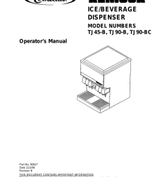 remcor ice bev disp operators manual model tj45 b [ 791 x 1024 Pixel ]