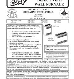 03 2013 r model numbers natural gas l p gas cdv155b cdv156b cdv255b cdv256b warning if the information in this manual is  [ 791 x 1024 Pixel ]