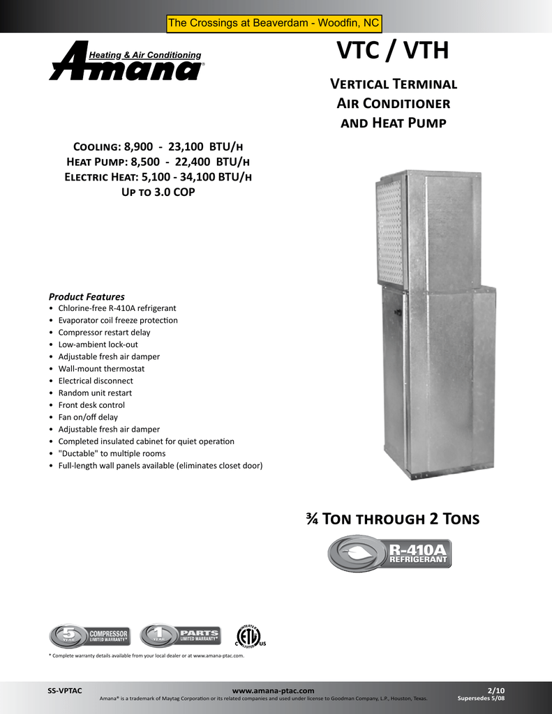 hight resolution of product specifications vtc vth medic air systems inc