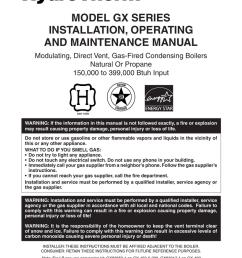 model gx series installation operating and maintenance manual [ 791 x 1024 Pixel ]