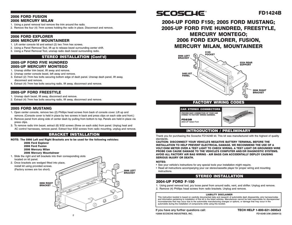 hight resolution of scosche fd1424b mounting kit