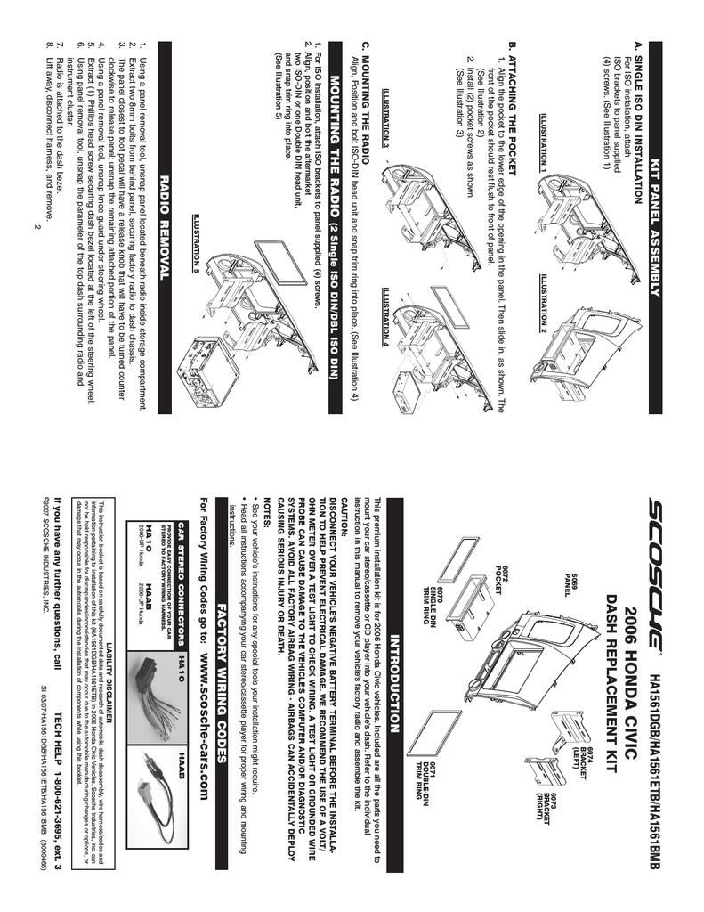 hight resolution of scosche ha1561dgb mounting kit