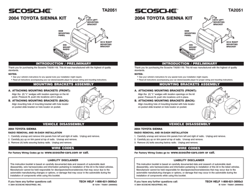 small resolution of scosche ta2051b car kit
