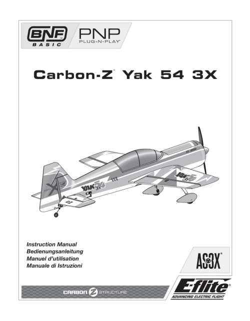 small resolution of e flite carbon z yak 54 3x