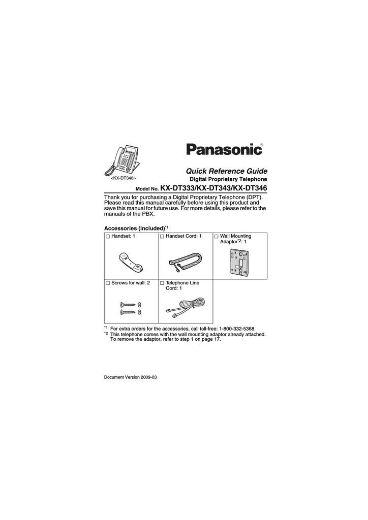 35 Panasonic Kx Dt343 Label Template