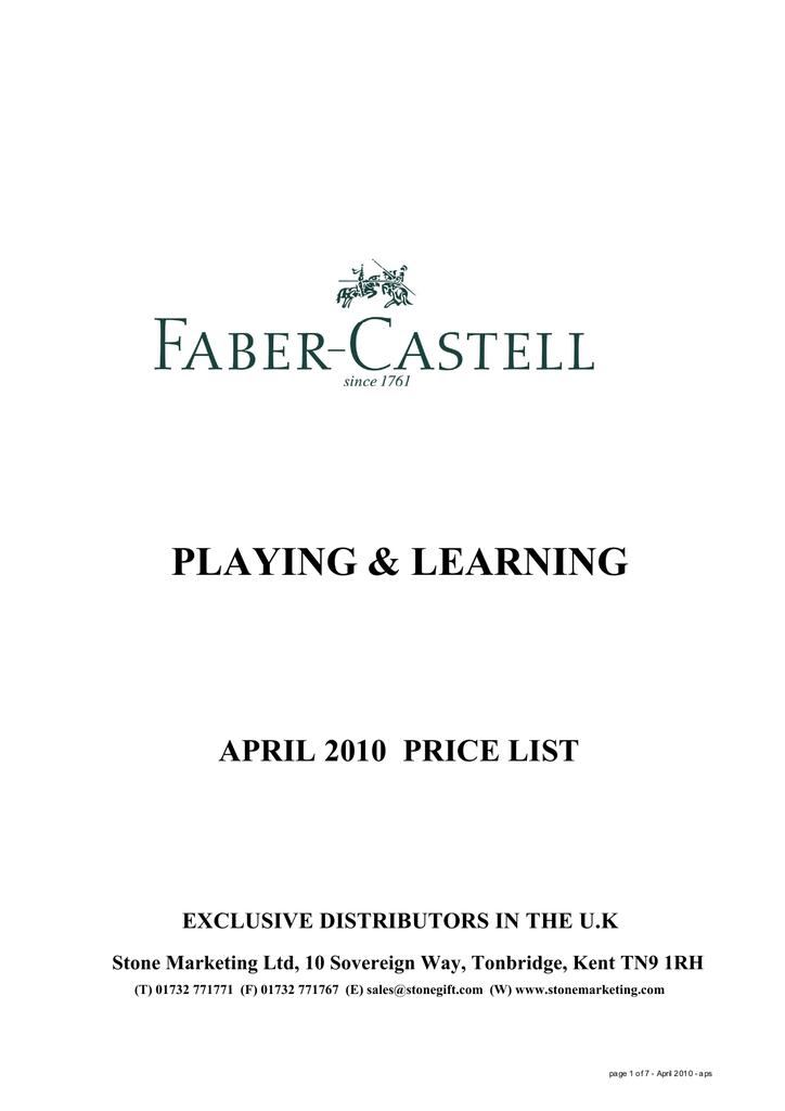 Logo Faber Castell Png : faber, castell, Faber-Castell, 112436, Datasheet, Manualzz
