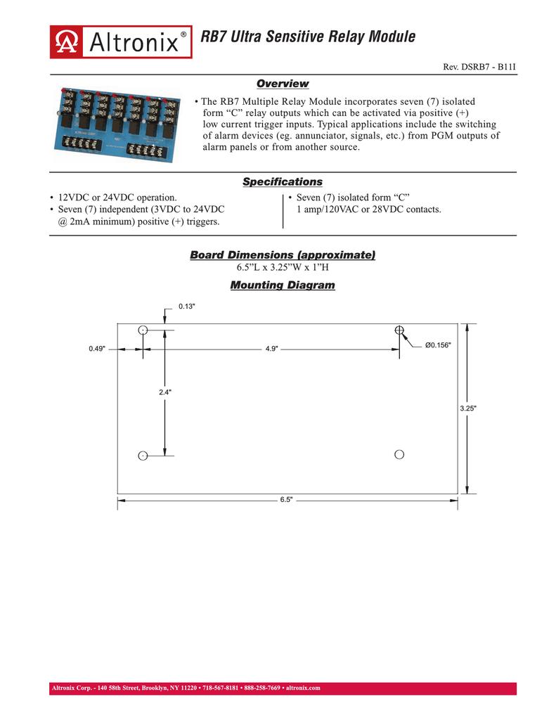 hight resolution of altronix rb7 power relay manualzz com
