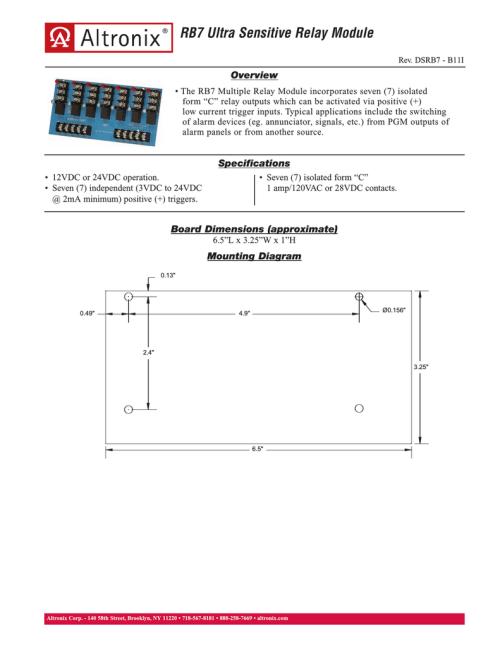 small resolution of altronix rb7 power relay manualzz com
