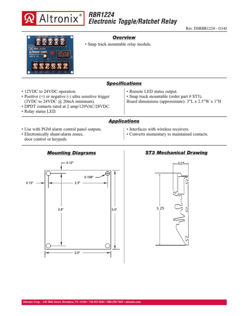 small resolution of altronix rbr1224 power relay