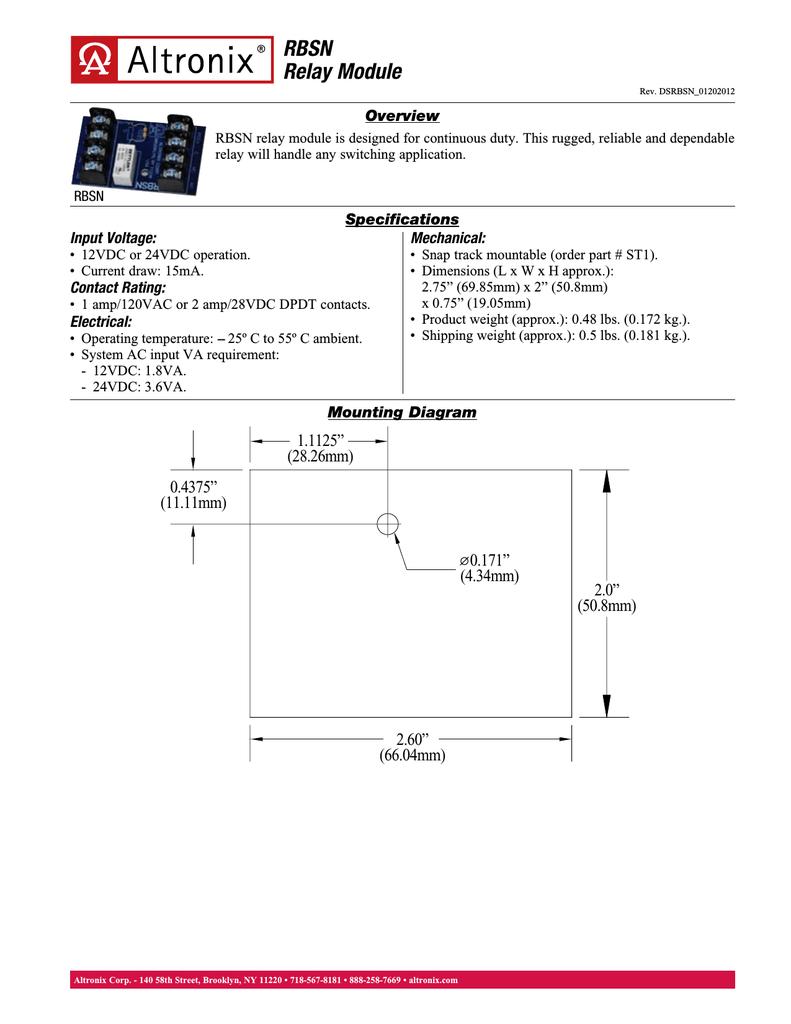 hight resolution of altronix rbsn power relay