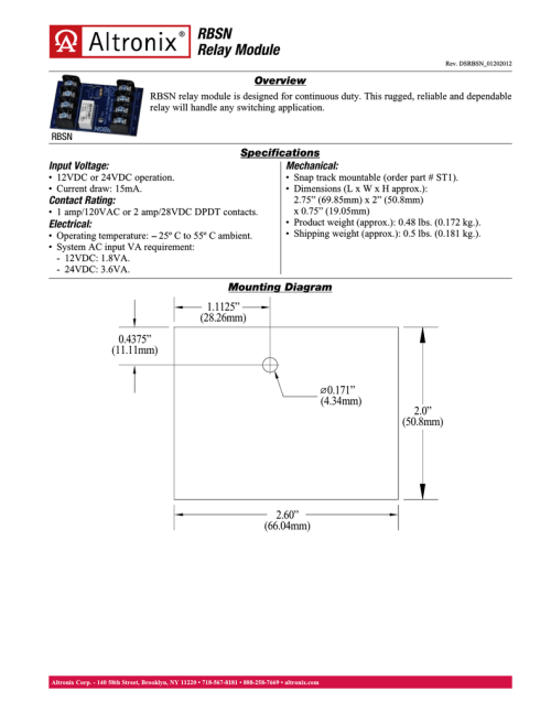 small resolution of altronix rbsn power relay