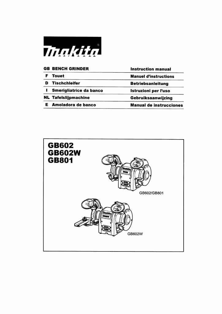 Makita Grinder Manual