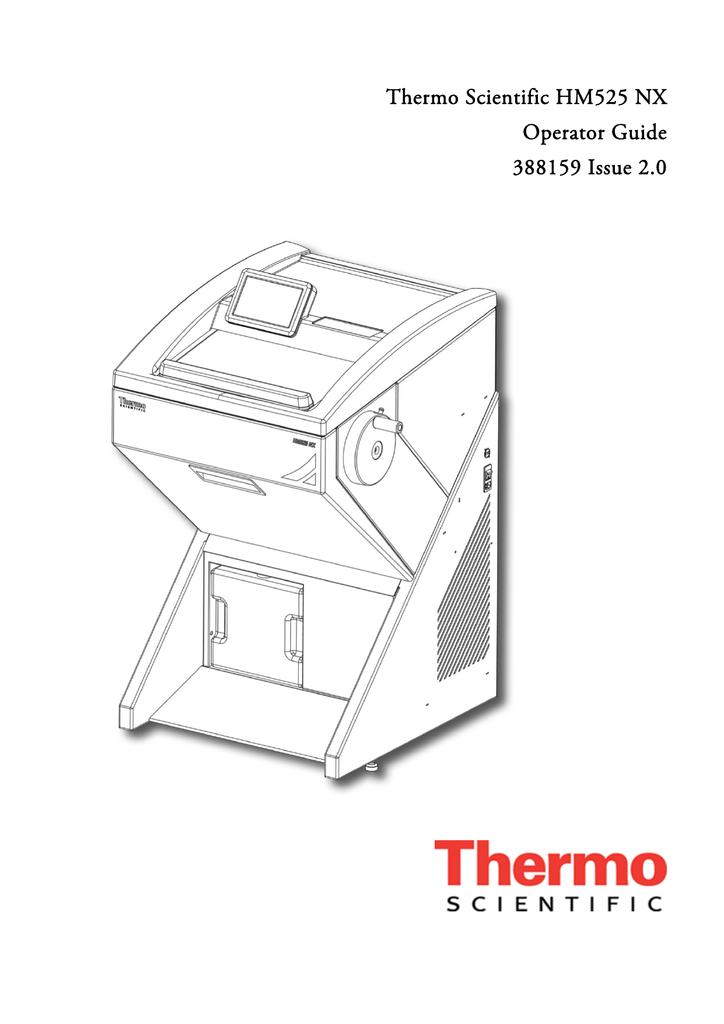 Thermo Scientific HM525 NX Operator Guide 388159 Issue 2.0