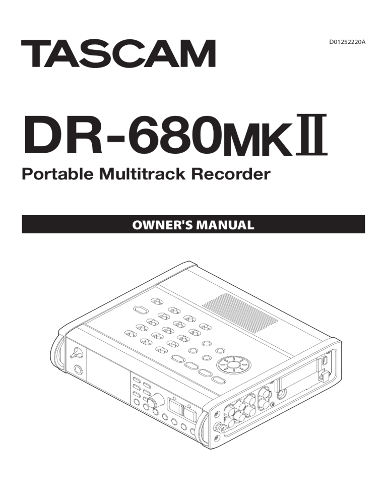 Resetting take name numbering. Tascam Projector