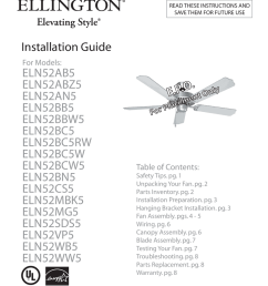 ellington 52 inch ceiling fan installation instructions [ 791 x 1024 Pixel ]