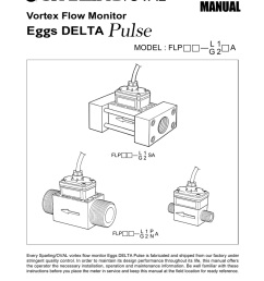 instructions operations manual eggs delta pulse vortex meter [ 791 x 1024 Pixel ]