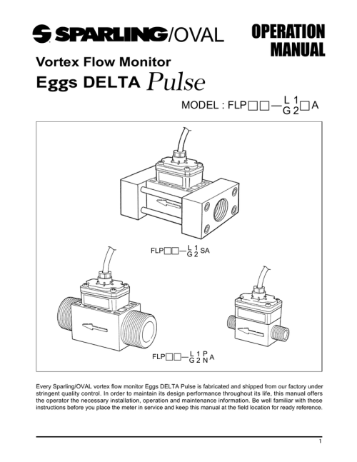 small resolution of instructions operations manual eggs delta pulse vortex meter