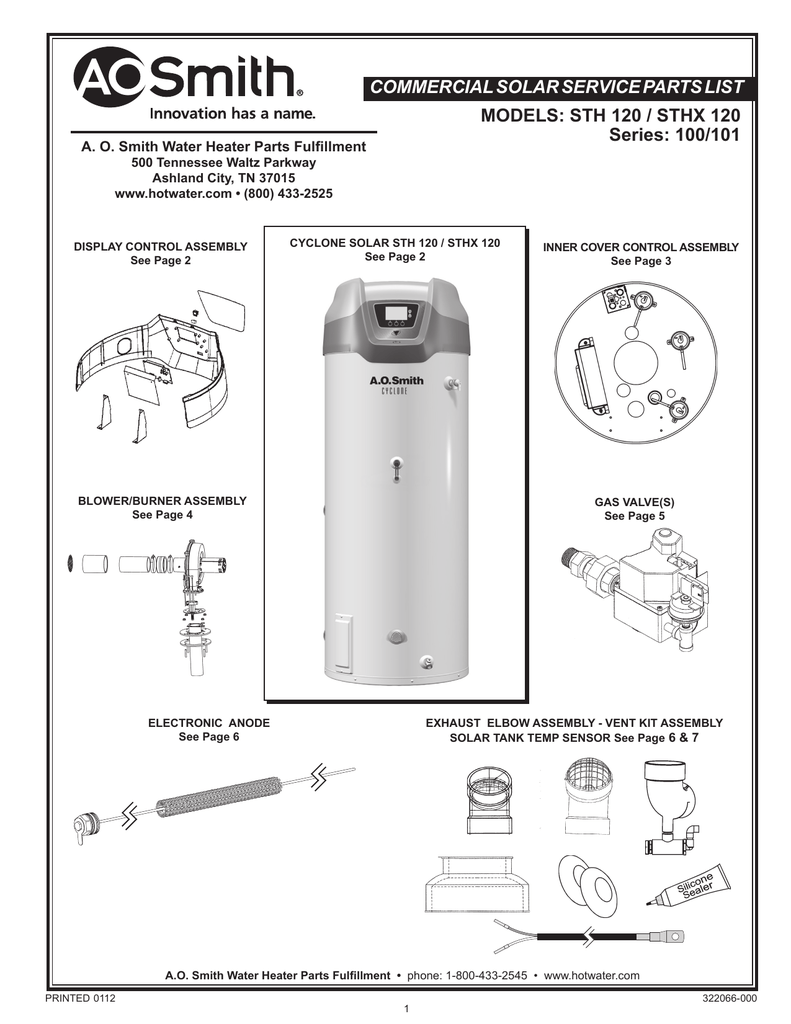 Water Heater Parts Names