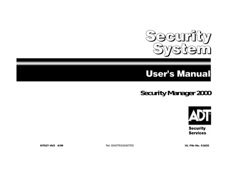 small resolution of adt security services home security system security system user s manual