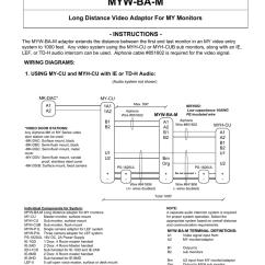 Aiphone Intercom Wiring Diagram 2002 Impala 1gd Great Installation Of Myw Ba M User S Manual Manualzz Com Rh Systems Ip System