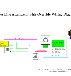 bogen uti1 user s manual speaker line attenuator with override wiring diagram  [ 1024 x 791 Pixel ]