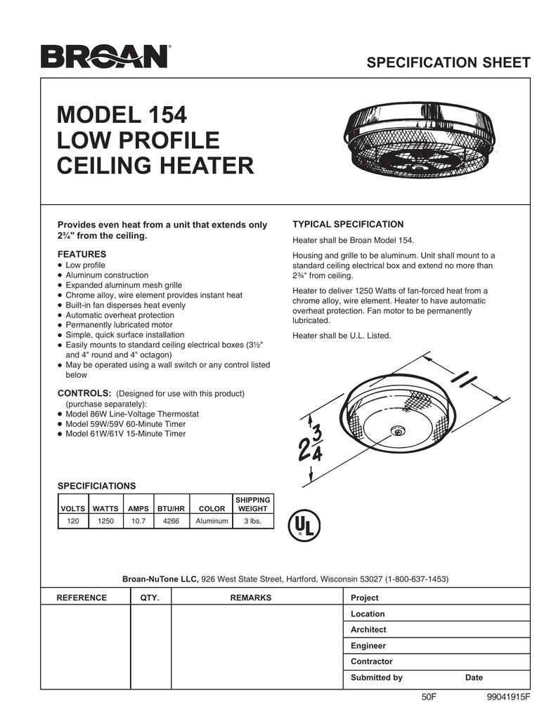 medium resolution of broan 154 user s manual