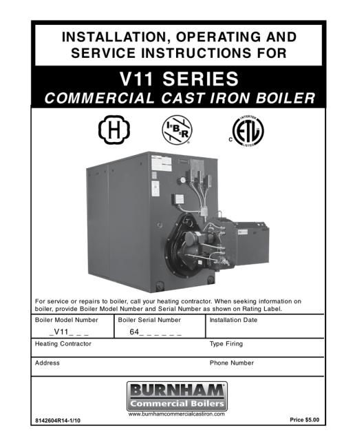small resolution of burnham series v11 installation and operation manual