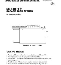 chamberlain m385 user s manual [ 791 x 1024 Pixel ]