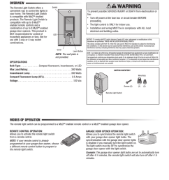 chamberlain wslcev remote light switch user s manual [ 791 x 1024 Pixel ]